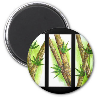 Tropical Bamboo Painting - Multi Refrigerator Magnet