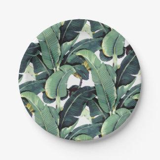 "Tropical Banana Leaf Palm Tree 7"" Paper Plates"