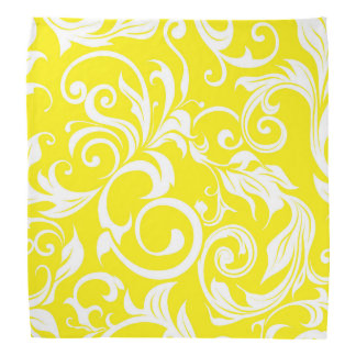 Tropical Banana Yellow Floral Wallpaper Pattern Bandana