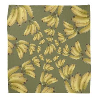tropical bananas in circles bandana