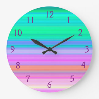 Tropical Bands Wall Clock
