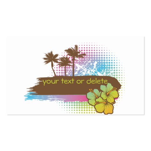 Tropical banner business cards