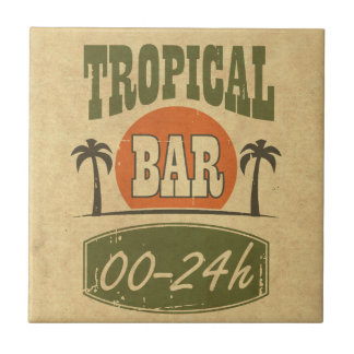 Tropical Bar Small Square Tile