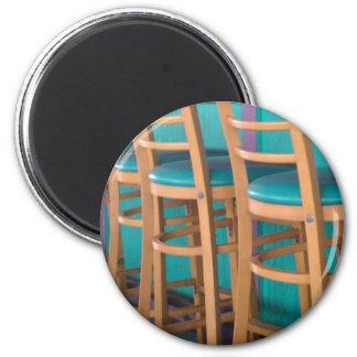 tropical bar stool fridge magnet