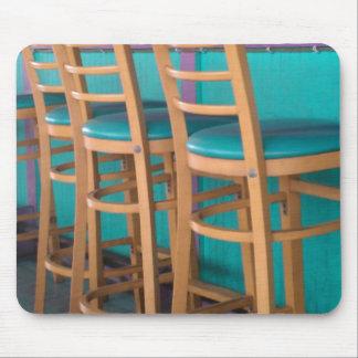 Tropical bar stool mouse pad
