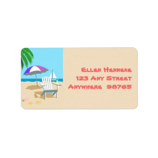 Tropical Beach Address Label