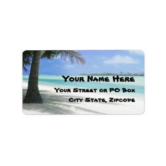 Tropical Beach Address Label