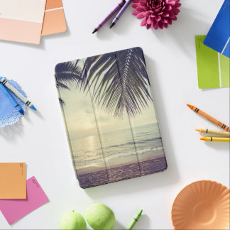Tropical Beach and Palm Leaves iPad Air Case iPad Air Cover