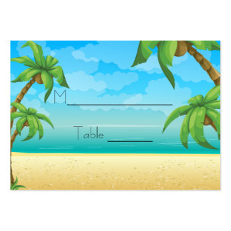 Tropical Beach and Palm Trees Place Setting Pack Of Chubby Business Cards