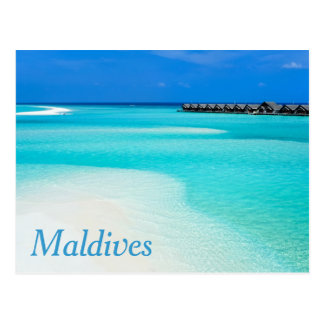 Tropical beach at Maldives Postcard
