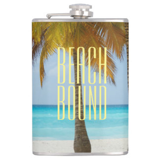 Tropical Beach Bound Hip Flask