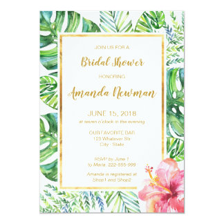 Tropical bridal shower invitations announcements zazzle tropical beach bridal shower invitation filmwisefo Image collections