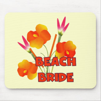 Tropical Beach Bride T-shirts and Gifts Mousepads