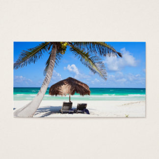Tropical beach business card