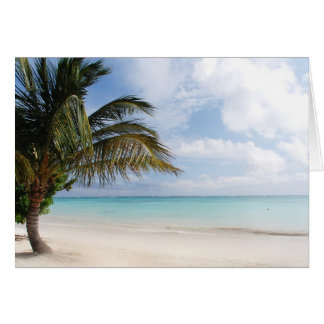 Tropical Beach Card