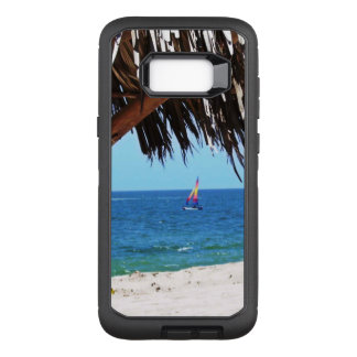 Tropical Beach Colorful Sailboat OtterBox Defender Samsung Galaxy S8+ Case