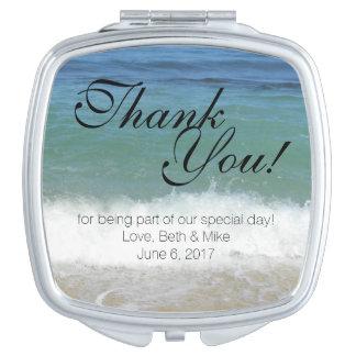 Tropical Beach Compact Thank You! Makeup Mirrors