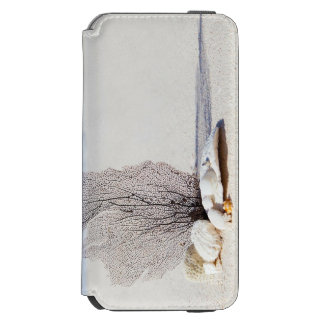 Tropical Beach decorated with Shells and a Seaweed Incipio Watson™ iPhone 6 Wallet Case