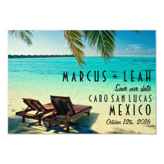 Tropical Beach Destination Wedding Save the Date Card