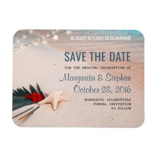 Tropical Beach Destination Wedding Save the Date Magnet
