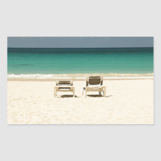 Tropical Beach Dominican Republic Rectangular Sticker