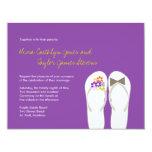 Tropical Beach Flip Flops Summer Wedding Invite 11 Cm X 14 Cm Invitation Card