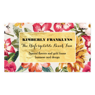tropical beach floral destination wedding pack of standard business cards