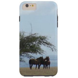 Tropical Beach Horses on the Beach Tough iPhone 6 Plus Case