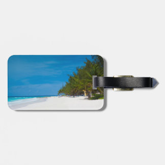 Tropical Beach in Barbados Luggage Tag