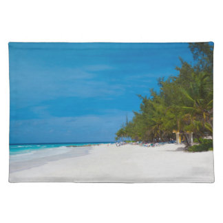 Tropical Beach in Barbados Placemat