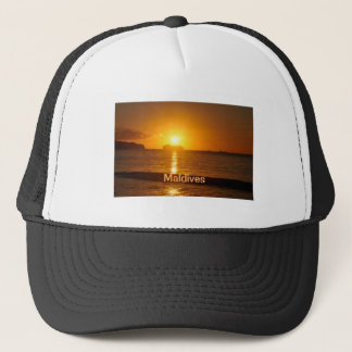 Tropical beach in Maldives Trucker Hat