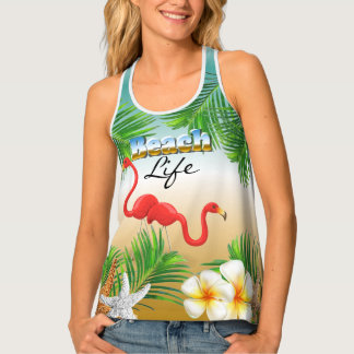 Tropical Beach Life Tank Top