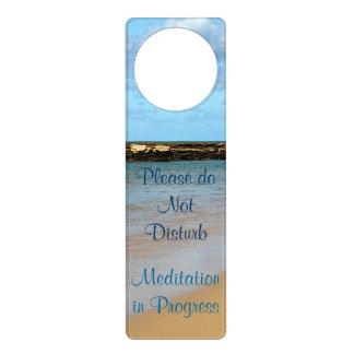 Tropical Beach Meditation Door Hanger