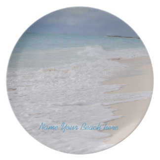 Tropical Beach Memento Party Plate