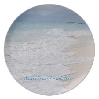 Tropical Beach Memento Plate
