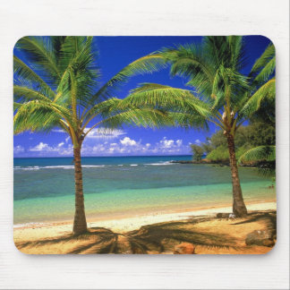 tropical beach mouse mat