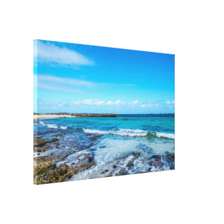 Tropical Beach&Ocean View Canvas Print