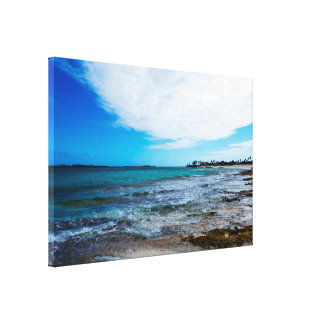 Tropical Beach&Ocean waves Canvas Print