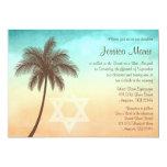 Tropical Beach Palm Tree Bat Mitzvah Invitations 13 Cm X 18 Cm Invitation Card