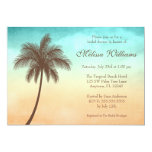 Tropical Beach Palm Tree Bridal Shower Invitations