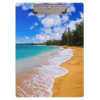 Tropical beach paradise, Hawaii Clipboard