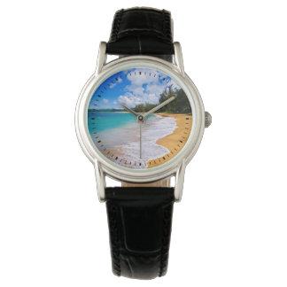 Tropical beach paradise, Hawaii Wrist Watch