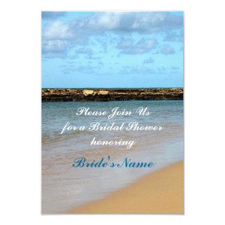 Tropical Beach Paradise Wedding Bridal Shower 9 Cm X 13 Cm Invitation Card