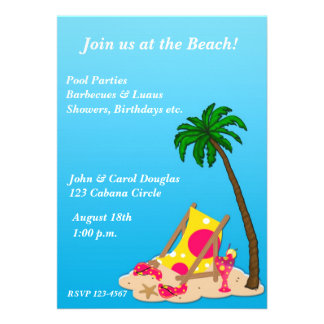 Tropical Beach Party Invitation