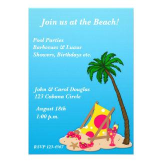Tropical Beach Party Invitation