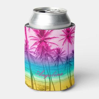 tropical beach rainbow filter can cooler