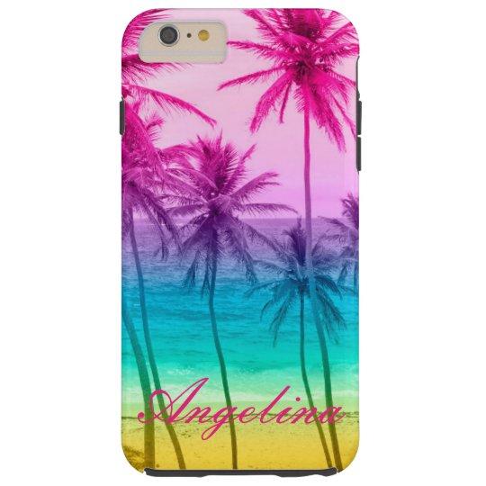 tropical beach rainbow filter tough iPhone 6 plus