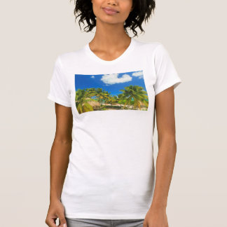 Tropical beach resort, Belize T-Shirt