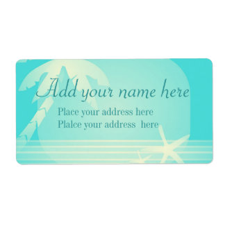 Tropical Beach Romance, customize Shipping Label