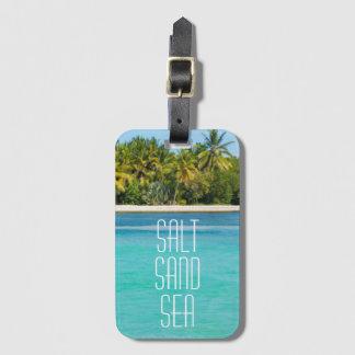 Tropical Beach Salt Sand Sea Luggage Tag